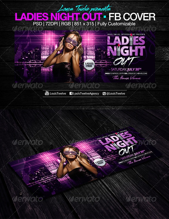 Ladies Night Out | Facebook Cover - Facebook Timeline Covers Social Media