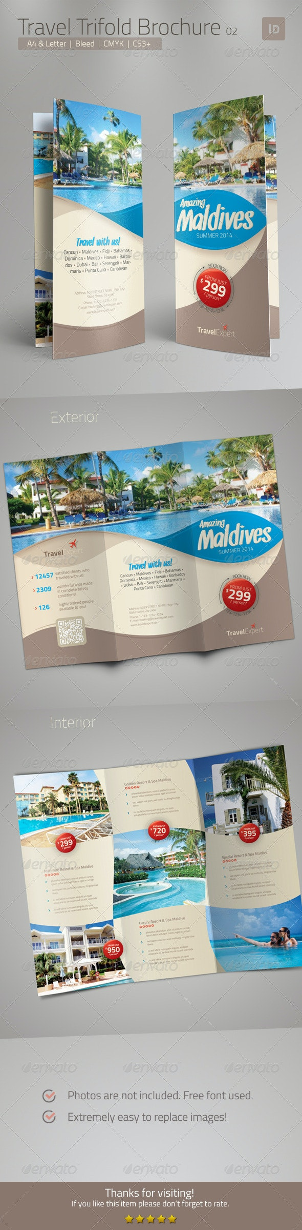 Travel Brochure - Trifold  - Corporate Brochures