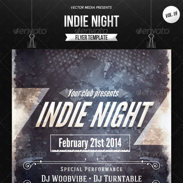 Indie Night - Flyer [Vol.19]
