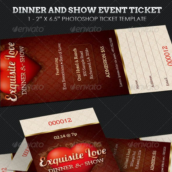 Dinner and Dance Event Ticket Template