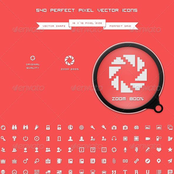 540 Perfect Pixel Icons