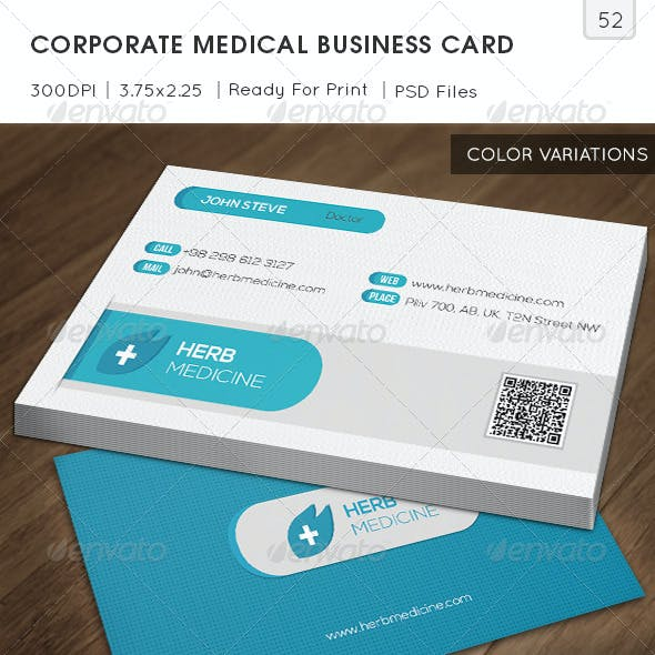 Corporate Medical Business Card v52