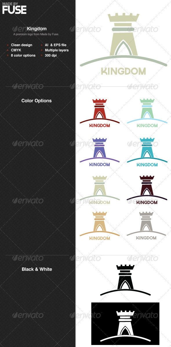 Kingdom - Buildings Logo Templates
