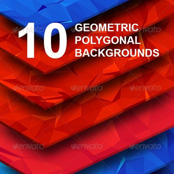 TOP 10 Geometric Polygonal Hi-Res Backgrounds