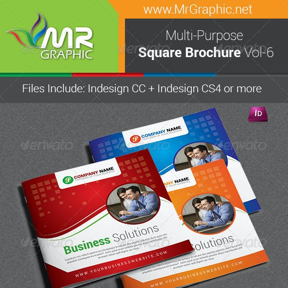 Multipurpose Square Brochure Template Vol-06