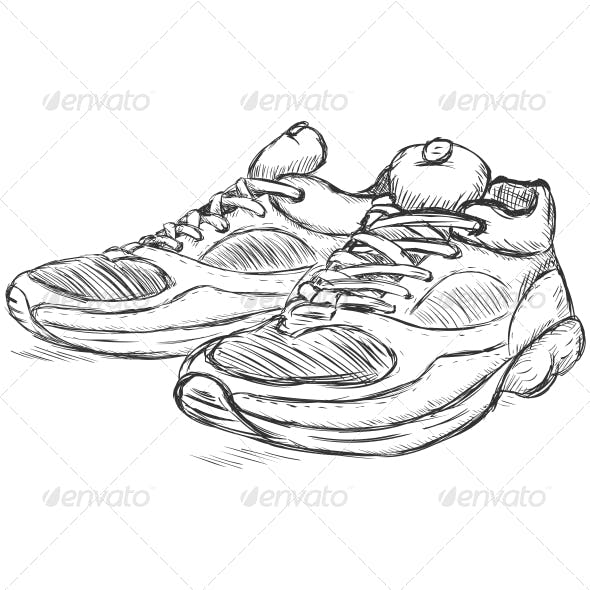 Running Shoes Sketch
