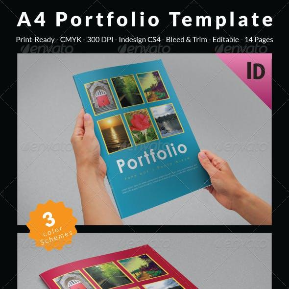 A4 Portfolio Template
