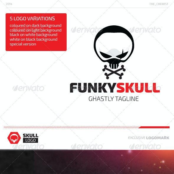 Funky Skull Logo
