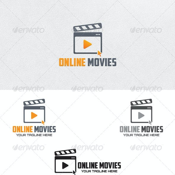 Online Movies - Logo Template