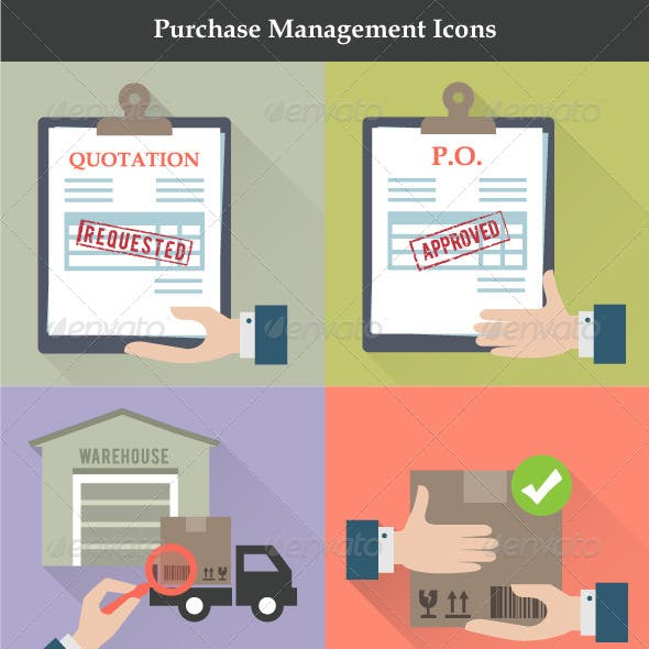 Purchase Management Icons