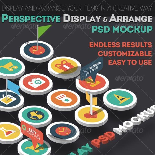 Perspective Display and Arrange PSD Mockup