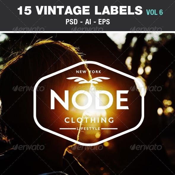 Retro Vintage Labels & Badges Logos V6