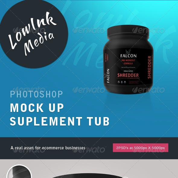 Supplement Tub Mock up