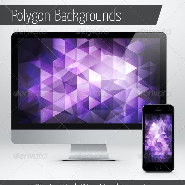 Polygon Backgrounds - Abstract Set