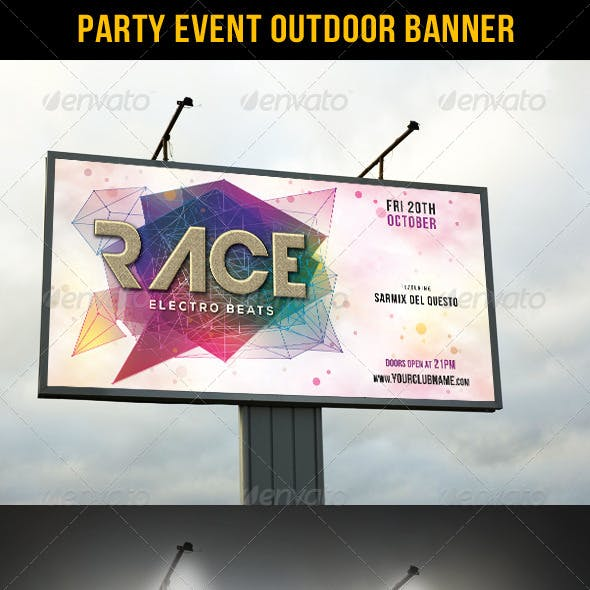 Party Event Outdoor Banner 02