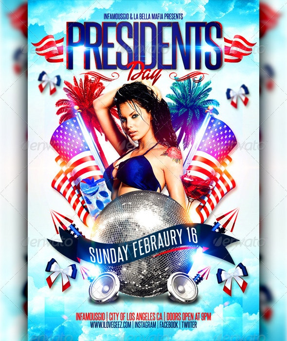 Presidents Day 1 - Flyers Print Templates