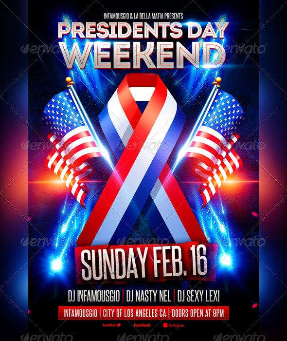 Presidents Day 3 - Events Flyers