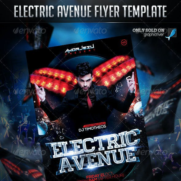 Electric Avenue Flyer Template