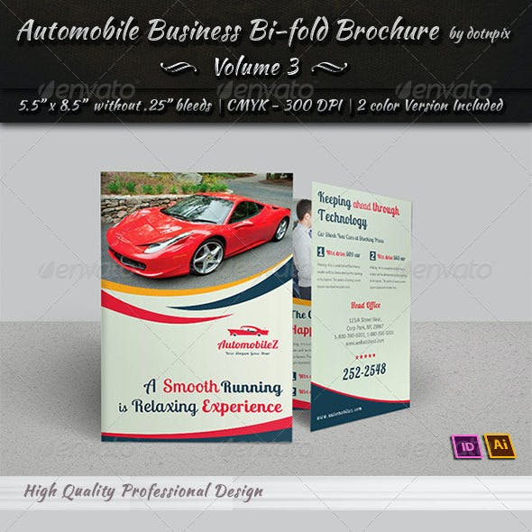 Automobile Business Bi-Fold Brochure | Volume 3