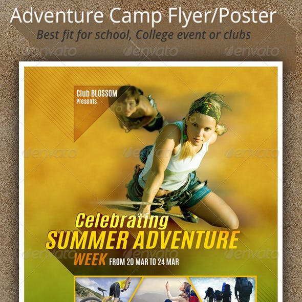 Adventure Camp Flyer