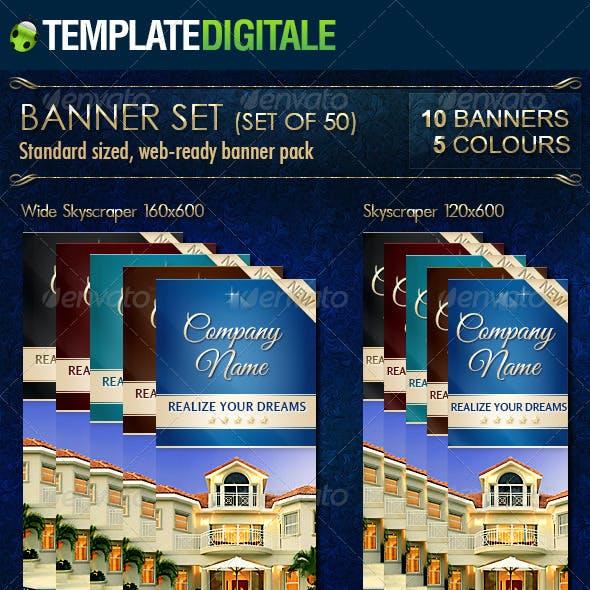 Luxury Real Estate Banner Set