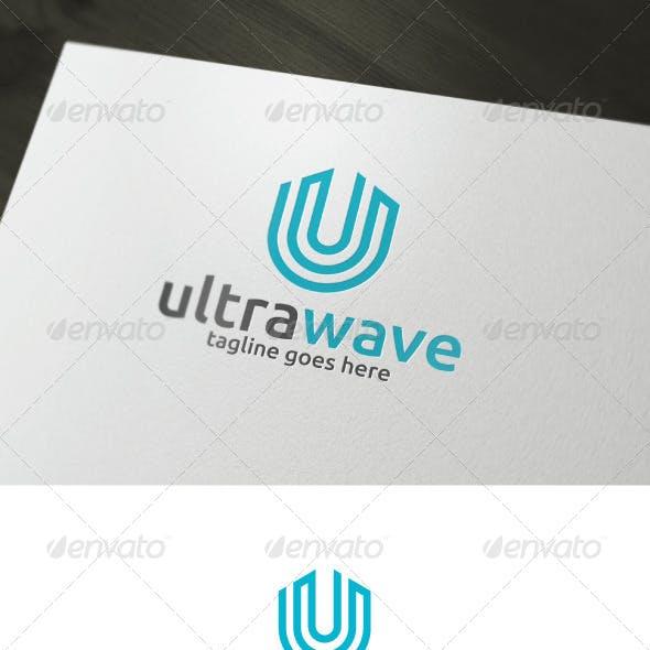 Ultra Wave Logo — Letter U