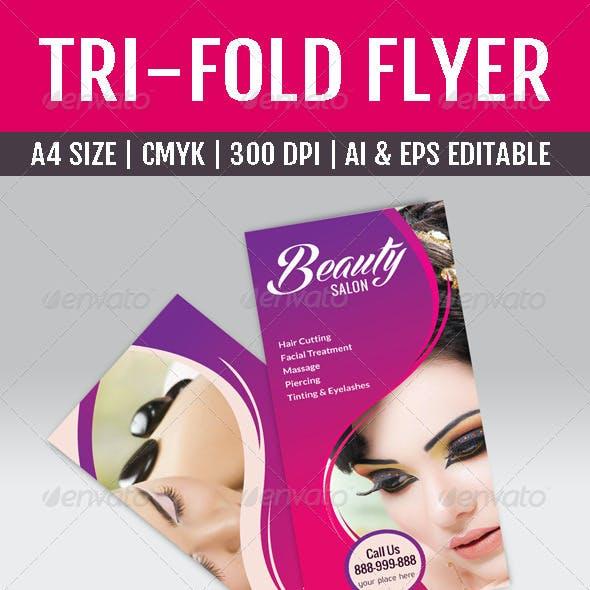 Beauty Saloon & Spa Tri-fold Brochure
