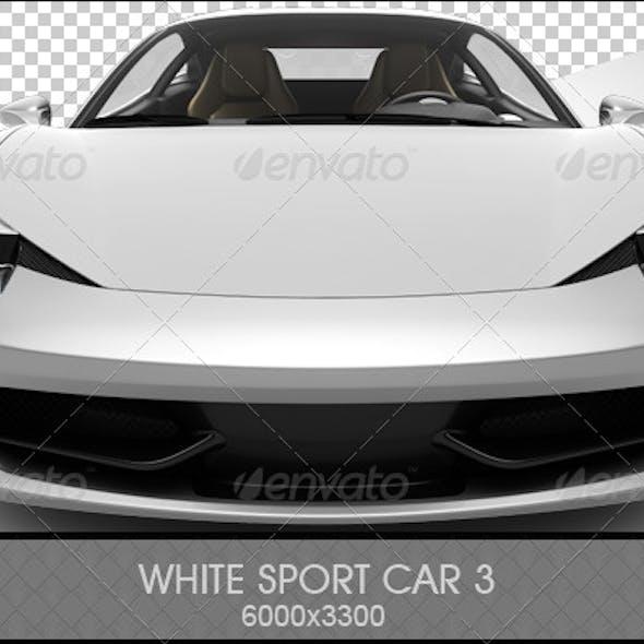 White Sport Car 3