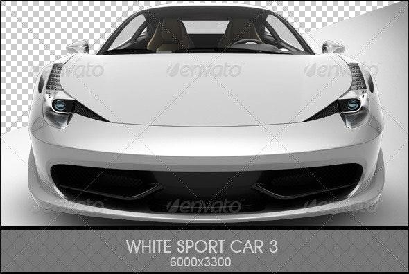 White Sport Car 3 - 3D Renders Graphics