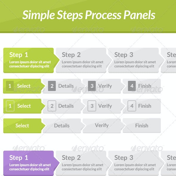 Simple Steps Process Panels