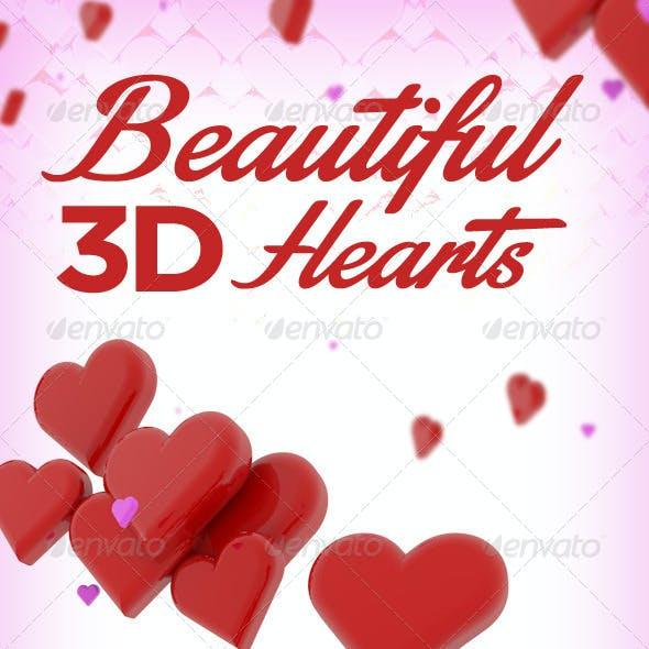 10 Beautiful 3D Hearts