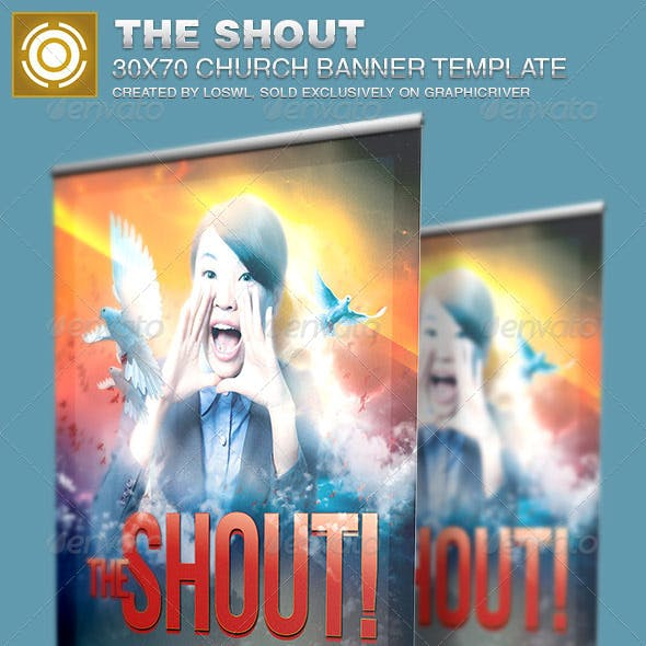 The Shout Church Banner Signage Template