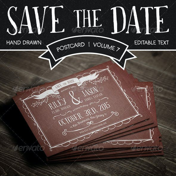 Save The Date Postcard | Volume 7