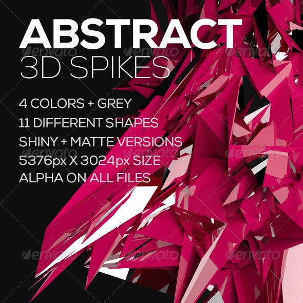 Abstract 3D Spikes
