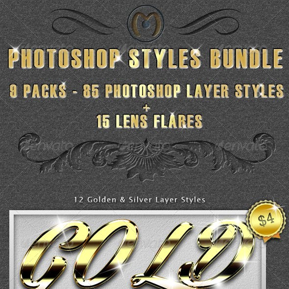 85 Photoshop Styles Bundle