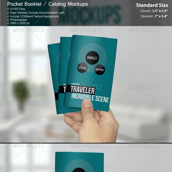 Pocket Booklet / Catalog Mockups