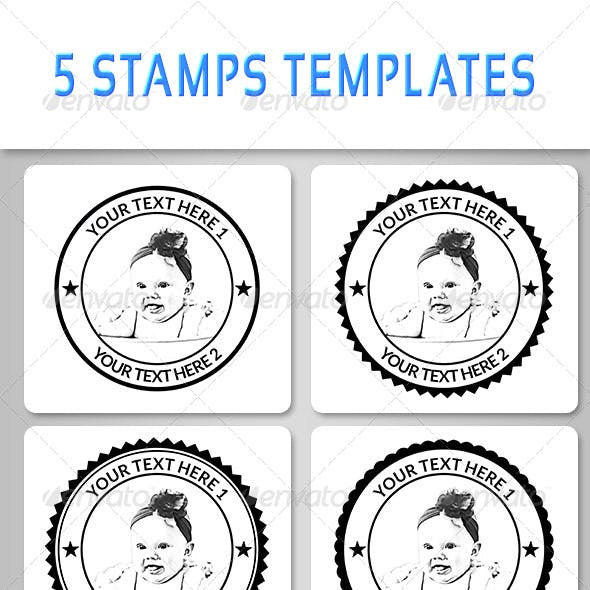 5 Stamps Templates