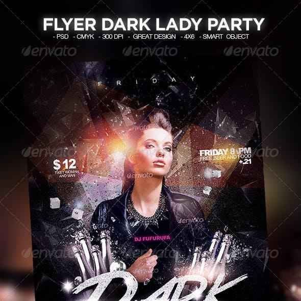 Flyer Dark Lady Party