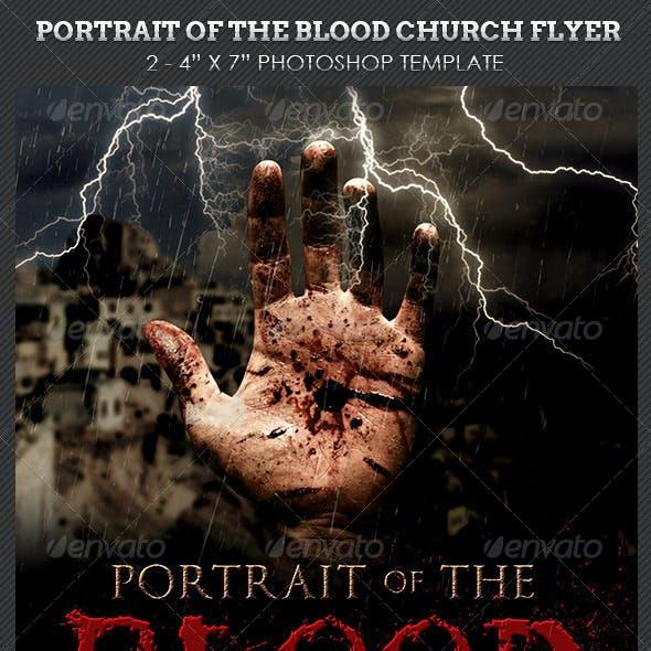 Blood Portrait Church Flyer Template