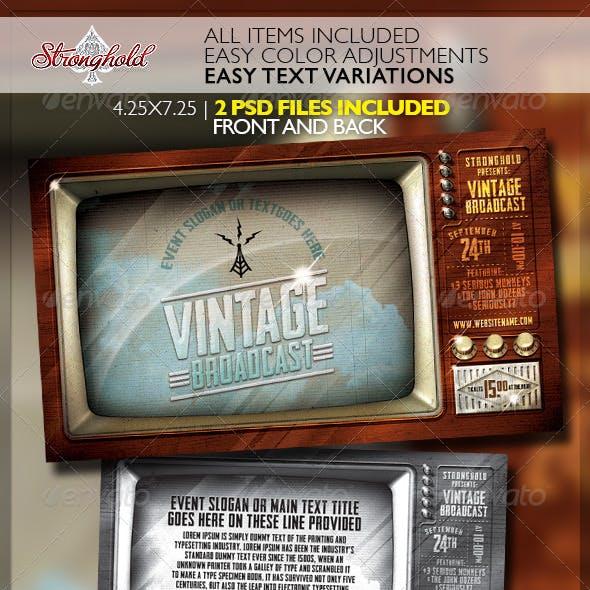 Vintage Television Broadcast Flyer Template