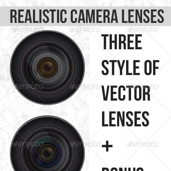 Realistic Vector Camera Lenses