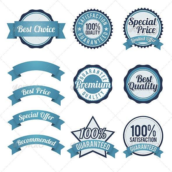 Badge and Ribbon Design Elements