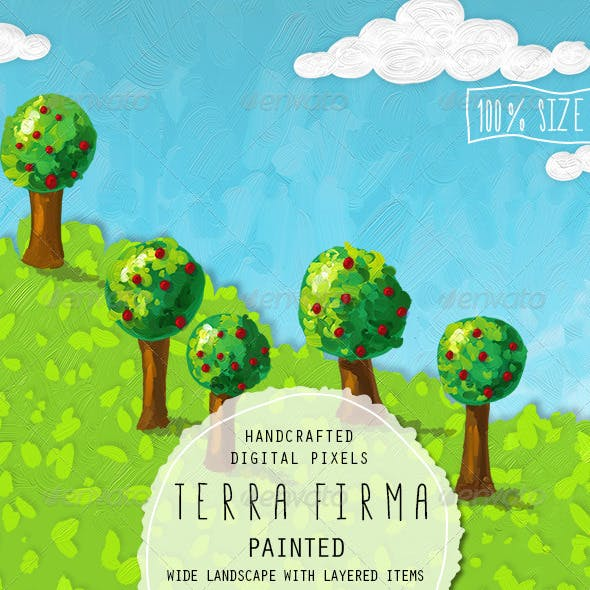 Terra Firma Painted Background