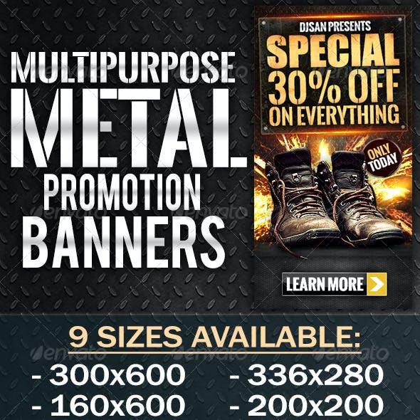 Multipurpose Metal Banner