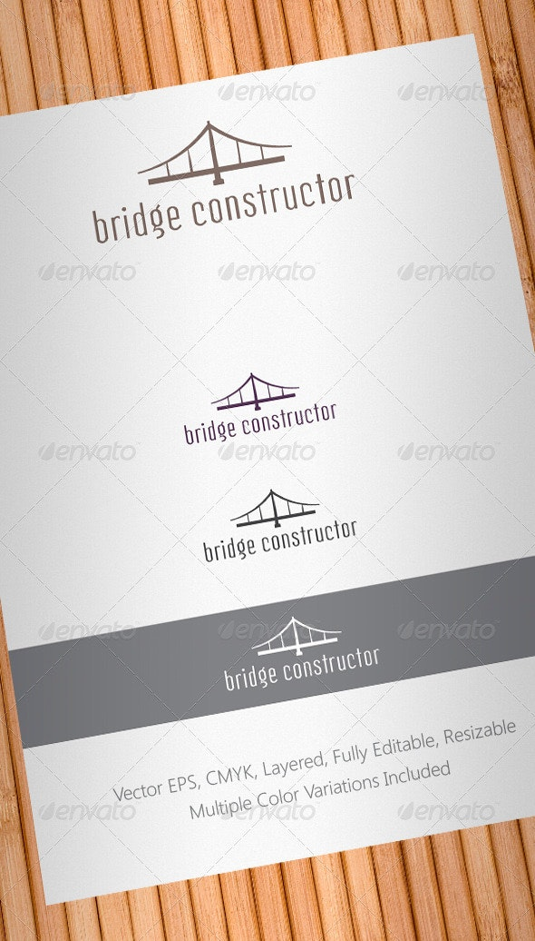 Bridge Constructor Logo Template - Buildings Logo Templates