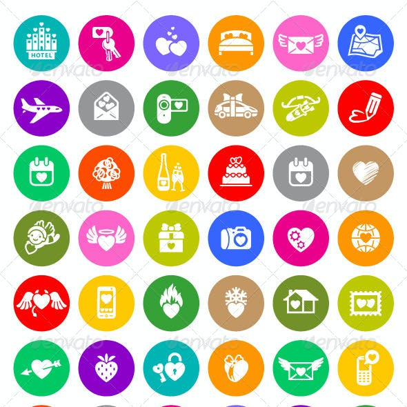 126 Valentine's Day Colorful Icons