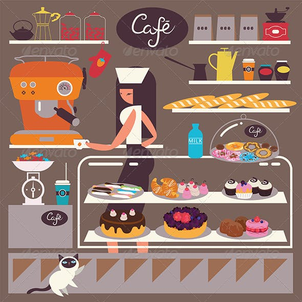 Sweets Shop and Cafe