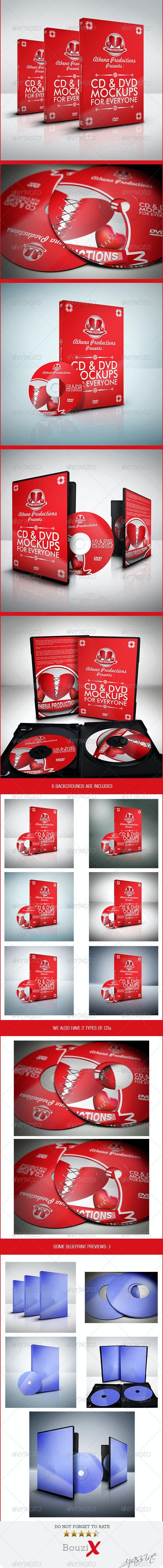 CD/DVD Mockups V.1 - Product Mock-Ups Graphics