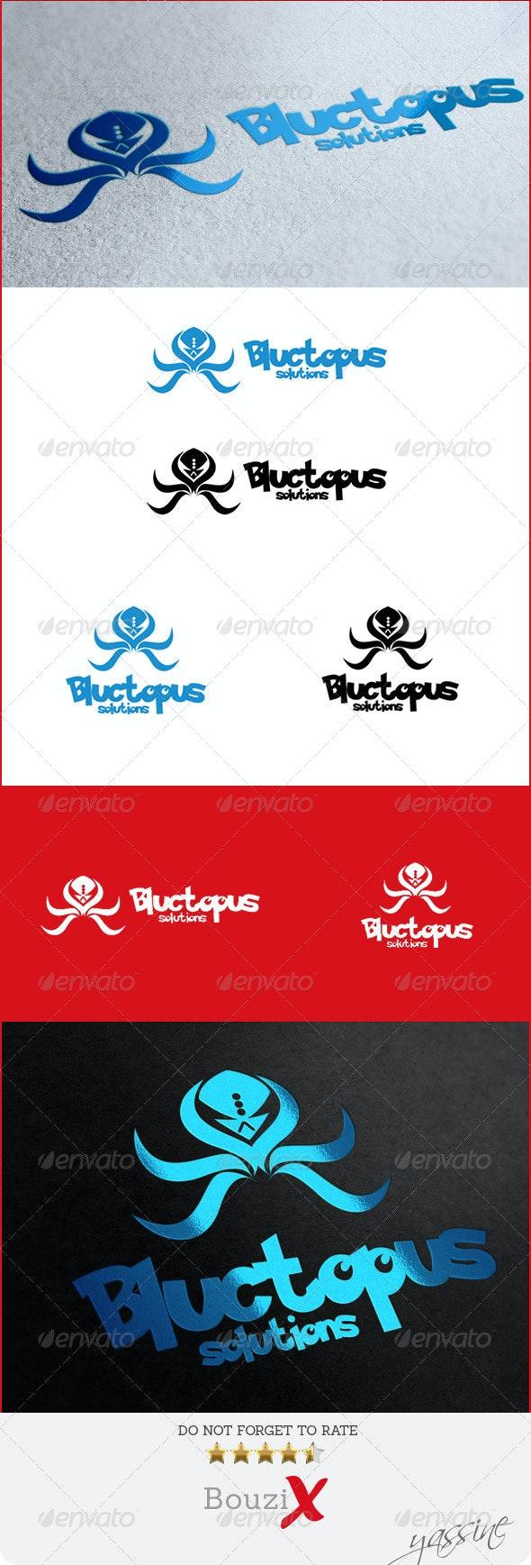 Bluctopus Logo - Animals Logo Templates