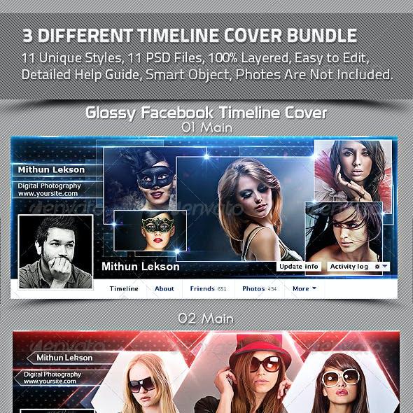 3 Different Facebook Timeline Cover Bundle
